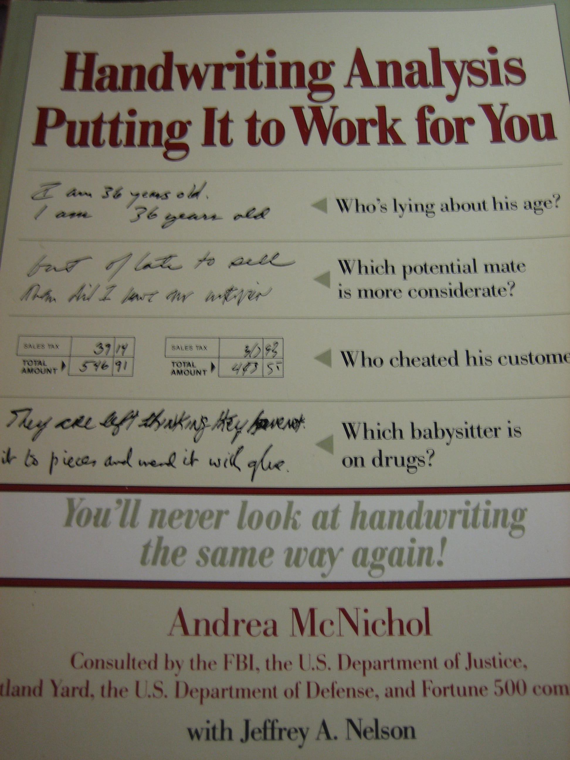ANDREA MCNICHOL HANDWRITING ANALYSIS PDF